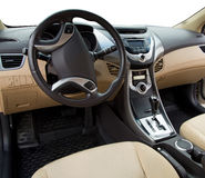 Wnętrze nowożytny samochód Zdjęcia Royalty Free
