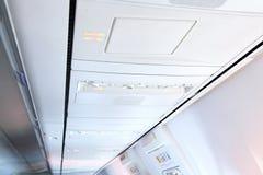 Wnętrze nowożytny samolot. zdjęcia stock