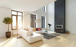 wnętrze nowoczesne mieszkania fotografia stock