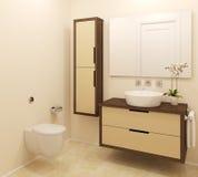 wnętrze nowoczesne toalety Zdjęcie Stock