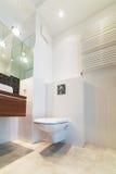 wnętrze nowoczesne toalety Zdjęcia Stock