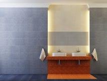 wnętrze nowoczesne toalety royalty ilustracja