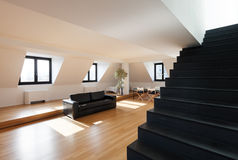 Wnętrze, nowy loft Fotografia Stock
