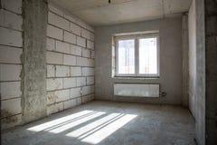 Wnętrze nowy pokój bez kończyć Obrazy Stock