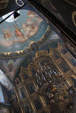 Wnętrze ortodoksyjny kościół Obrazy Stock
