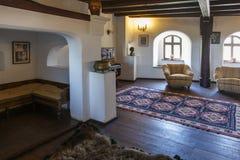 Wnętrze otrębiasty kasztel, Rumunia obraz royalty free