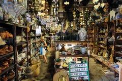 Wnętrze pamiątkarski sklep w Betancuria Fuerteventura Zdjęcia Stock