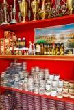 Wnętrze Pamiątkarski sklep w Bethelem Izrael Obrazy Royalty Free