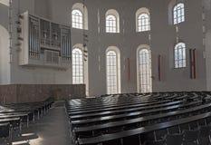 Wnętrze Paulskirche Plenarny Hall, górne piętro Frankfurt Paulskirche Zdjęcie Royalty Free