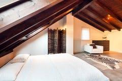Wnętrze, piękny loft Fotografia Stock
