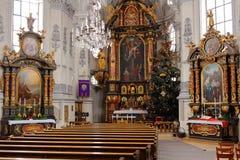 Wnętrze pielgrzymka kościelny Maria Birnbaum Obraz Stock