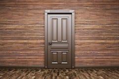 Wnętrze pokój z klasycznym drzwi 3d renderingiem Obraz Stock