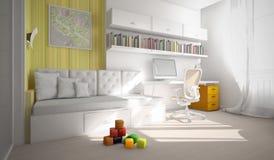 Wnętrze pokoju 3D rendering Fotografia Stock