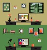 Wnętrze Pracujący miejsce Obrazy Stock