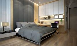 Wnętrze projekta pomysł nowożytna sypialnia Zdjęcie Royalty Free