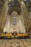 Wnętrze przy Mediolańską katedrą Obraz Stock