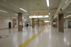 Wnętrze przy Ueno stacją przy 2016 Obrazy Royalty Free