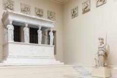 Wnętrze Pushkin stanu muzeum sztuki piękna w Moskwa, Rosja Obraz Royalty Free