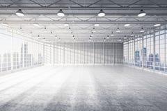 Wnętrze pusta fabryka obraz royalty free