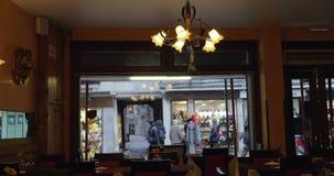 Wnętrze pusta kawiarnia lub restauracja zbiory