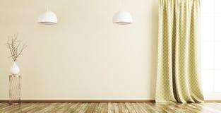 Wnętrze pusty izbowy tło 3d odpłaca się Obrazy Stock