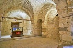 Wnętrze Qaitbay kasztel, Aleksandria, Egipt obrazy royalty free