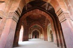 Wnętrze Qila-i-kuna meczet, Purana Qila, New Delhi, India Obrazy Stock