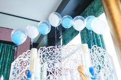 Wnętrze restauracja, dekorujący Fotografia Stock