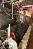 Wnętrze rocznika kawowy przemysł w Kolumbia Zdjęcia Royalty Free