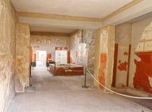 Wnętrze Romańska willa przy Pompeii Zdjęcie Stock
