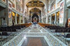 Wnętrze rzymski kościół, Rzym, Włochy Obrazy Royalty Free