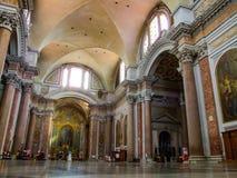 Wnętrze rzymskokatolicka bazylika święty Mary i męczennicy aniołowie w Rzym w Włochy Fotografia Stock