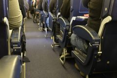 Wnętrze samolot obraz royalty free
