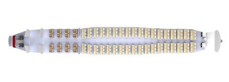 Wnętrze samolot odizolowywa na bielu świadczenia 3 d Obraz Stock