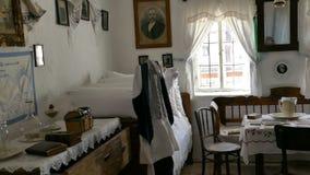 Wnętrze Serbski domu wiejskiego wnętrze Banat regionu część Transylvania, Rumunia zbiory