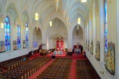 Wnętrze SS Peter & Paul kościół--Chattanooga zdjęcia royalty free