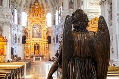 Wnętrze St Michael kościół w Monachium Obraz Stock