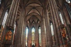 Wnętrze St Sebaldus średniowieczny kościół wewnątrz Obraz Stock