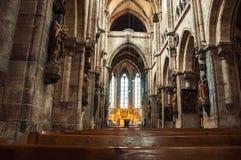 Wnętrze St Sebaldus kościół w Nuremberg Obrazy Stock