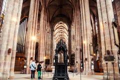 Wnętrze St Sebaldus kościół w Nuremberg Obraz Royalty Free