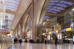 Wnętrze stacja kolejowa w Leipzig zdjęcie royalty free