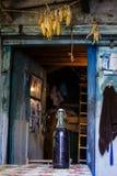 Wnętrze stara śpiżarnia Dom rolnicy wnętrze Galicia Obraz Royalty Free