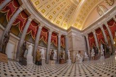 Wnętrze Statuaryczny Hall w USA Capitol budynku, Washington obrazy royalty free