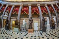 Wnętrze Statuaryczny Hall w USA Capitol budynku, Washington fotografia stock