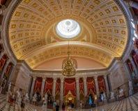 Wnętrze Statuaryczny Hall w USA Capitol budynku, Washington zdjęcia royalty free