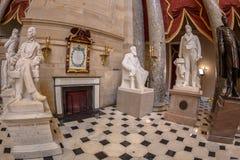 Wnętrze Statuaryczny Hall w USA Capitol budynku, Washington zdjęcie royalty free