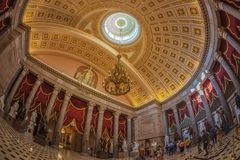 Wnętrze Statuaryczny Hall w USA Capitol budynku, Washington obraz stock