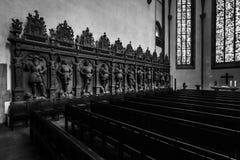 Wnętrze Stiftskirche Uczelniany kościół Obraz Stock