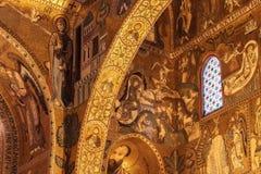 Wnętrze Strzelał sławny Cappella Palatina w Sicily Fotografia Royalty Free