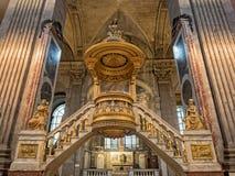 Wnętrze StSulpice kościół w Paryż, Francja fotografia royalty free